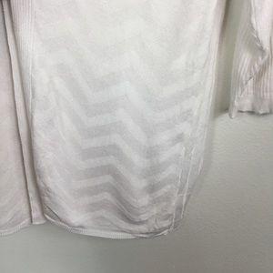croft & barrow Sweaters - CROFT & BARROW CHEVRON RIBBED OPEN FRONT KNIT